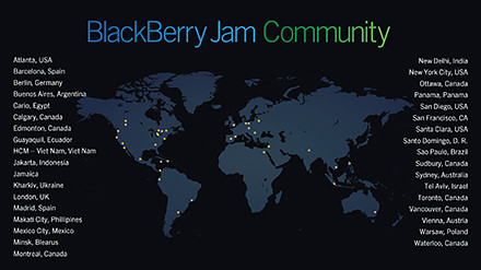 BlackBerry Jam Communities around the world