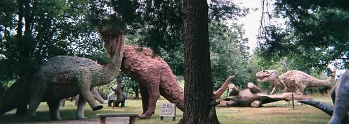 panorama virginia dinosaur fiberglass roadsideattraction shenandoahvalley tyrannosaurus tyrannosaurusrex brontosaurus apatosaurus whitepost dinosaurland megalosaurus pachycephalosaurus titanosaurus stonewalljacksonhighway 2011carterfoldtrip