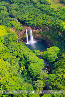 Wailua Falls from the Air - Kauai - Hawaii