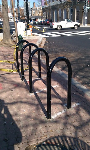 Hoop racks on Georgia Avenue NW
