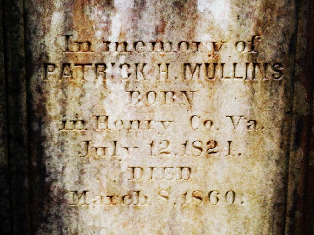 Patrick Henry Mullins-Mullins Cemetery, Meriwether County, Ga