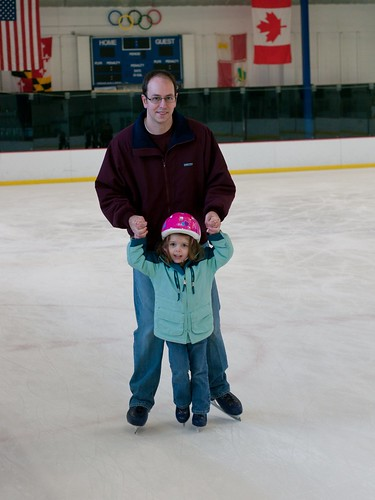 Skating with Daddy