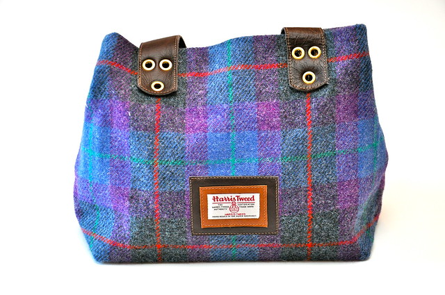 My lovely Harris Tweed bag