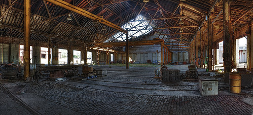 Abandoned Locomotive Workshop by Whitney Lake
