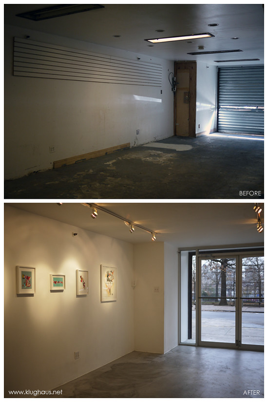 Before & After - Klughaus Gallery Front