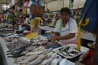 fresh fish sold at Minglanilla public market in Cebu in the Philippines