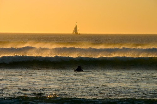 Cape Town sunset: sailing & surf / vela e surf