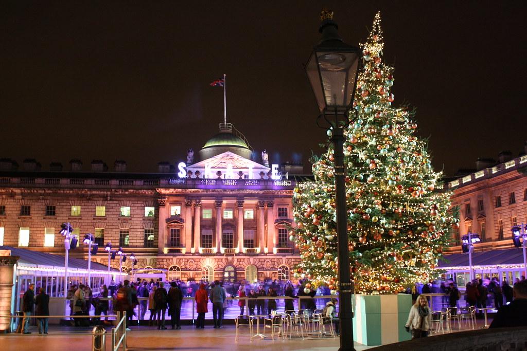 Somerset House in December, London