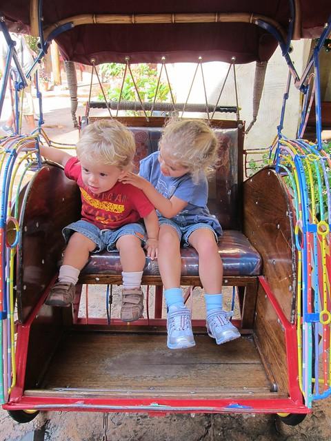 Everett And Violet In The Rickshaw Flickr Photo Sharing