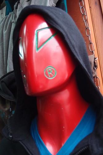 Red alien mannequin