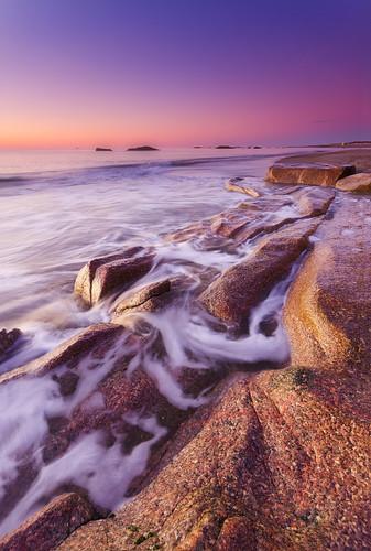 winter motion sunrise atlanticocean warmlight westportma noclouds freezingcold sigma1020mmf456exdchsm elephantrocksbeach nikond7000 reversegraduatedneutraldensityfilter