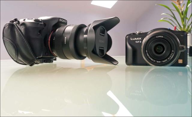 Panasonic Lumix GX1 14mm Sony a77 16-50mm f/2.8 GF3 14-42mm