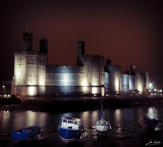 Caernarfon Castle at Night (explored)