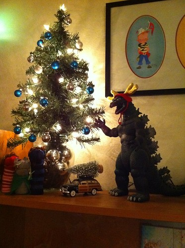 Godzilla decorating