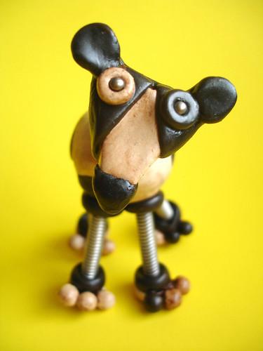 Carl the Cow | Robot Sculpture  by HerArtSheLoves