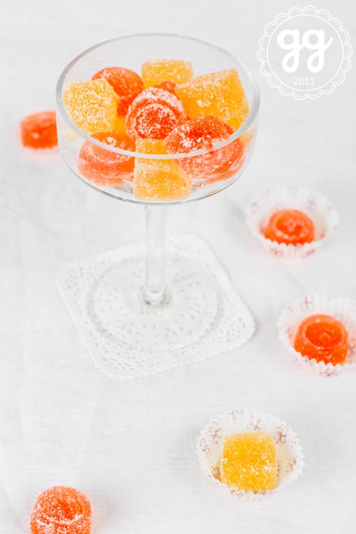 gelatine di arancia e lime