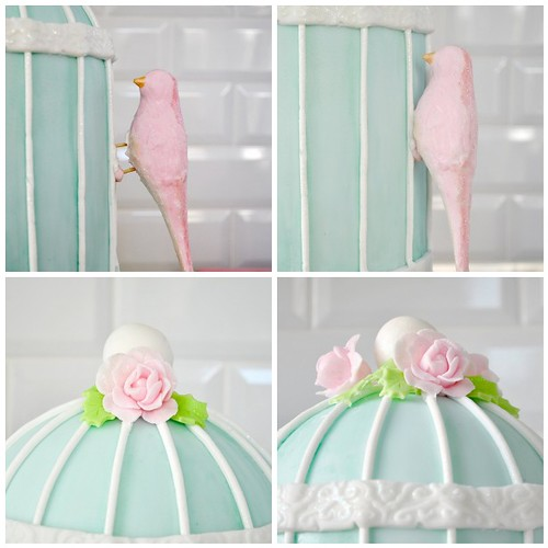 Decorating my bird cage shaped cake steps 21-24