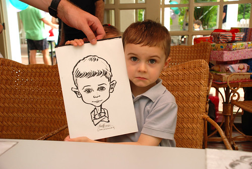 caricature live sketching for children birthday party 08 Oct 2011 - 17