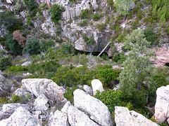 Canyon du Niffru : le canyon depuis le bloc rocheux au-dessus (partie centrale)