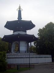 The Peace Pagoda, Battersea Park, London.