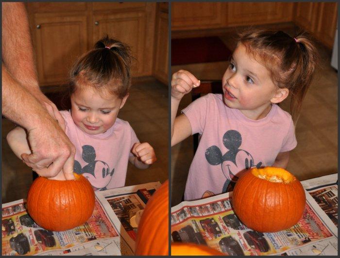 ewwww..... pumpkin guts