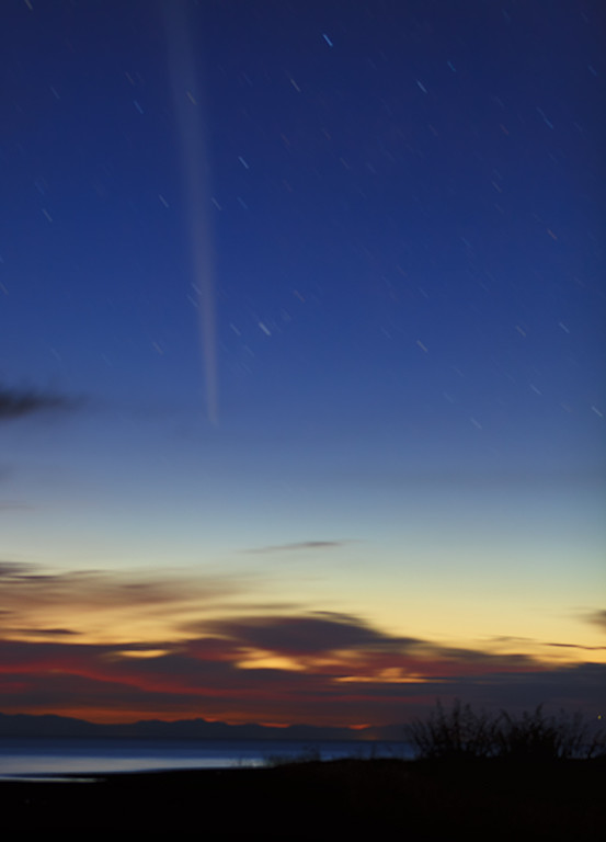 Lovejoy comet at dawn