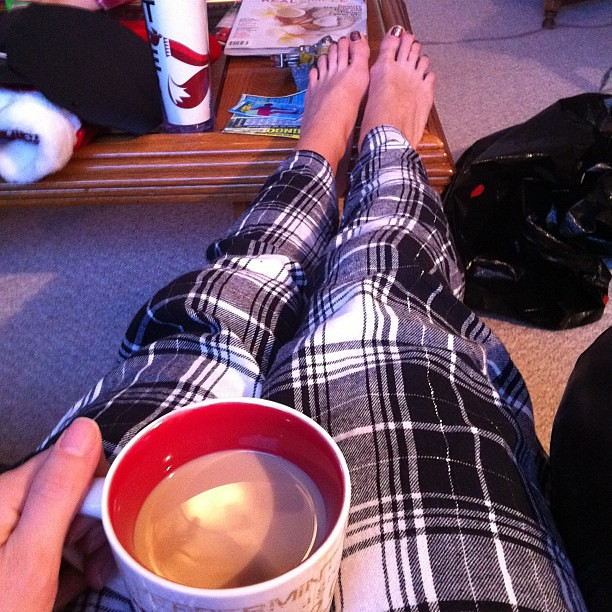 Coffee & Bailey's while opening stockings. #hourlyphoto
