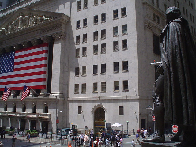 Photo de la Bourse de New York, Quartier de Wall Street, USA