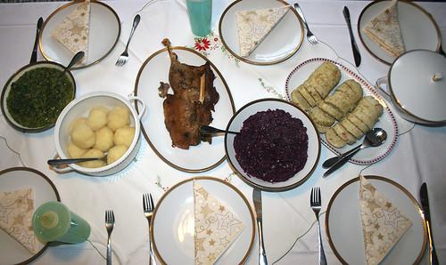Weihnachtstafel / Christmas lunch