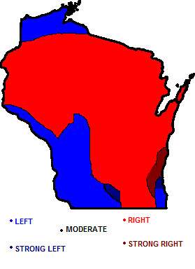 Wisconsin Political Map A Map Of Wisconsin S Political Lea Flickr