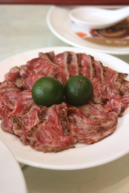 Instead of raw fish for yusheng, how about some char-grilled wagyu beef?