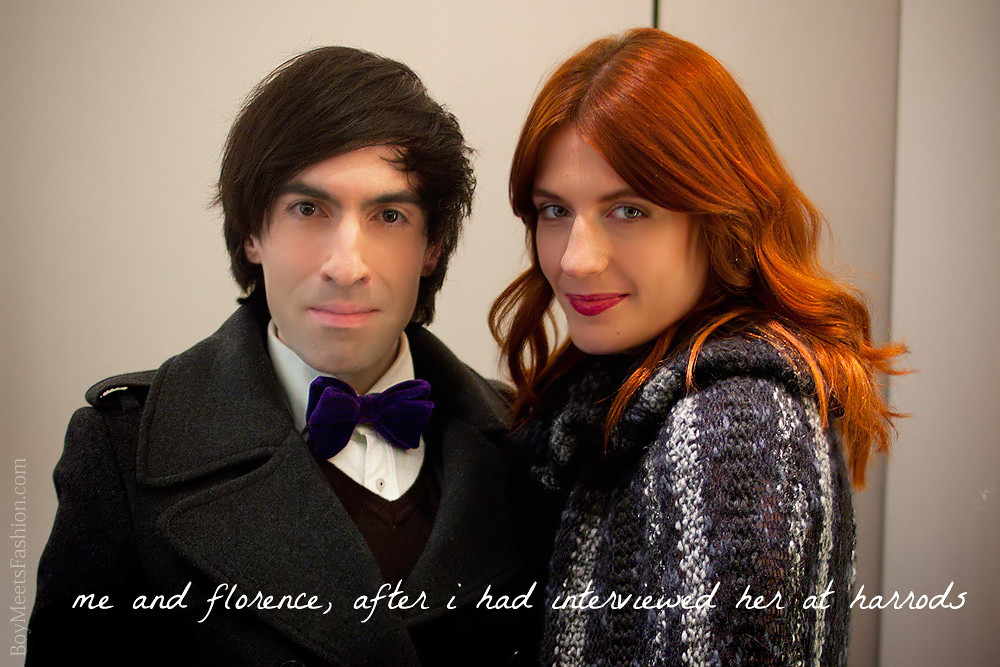 Florence Welch opens the Harrods Winter Sale 2011