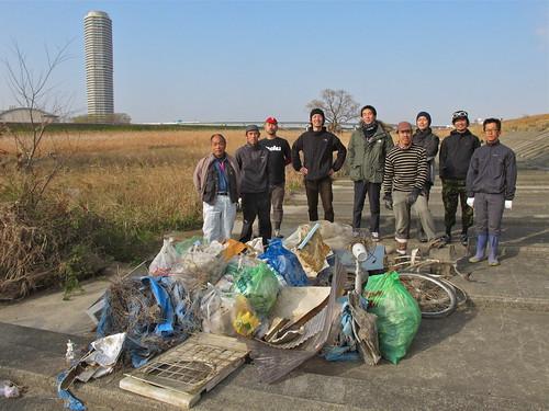 111229 庄内川河川敷 清掃整備 & CXタイム計測会