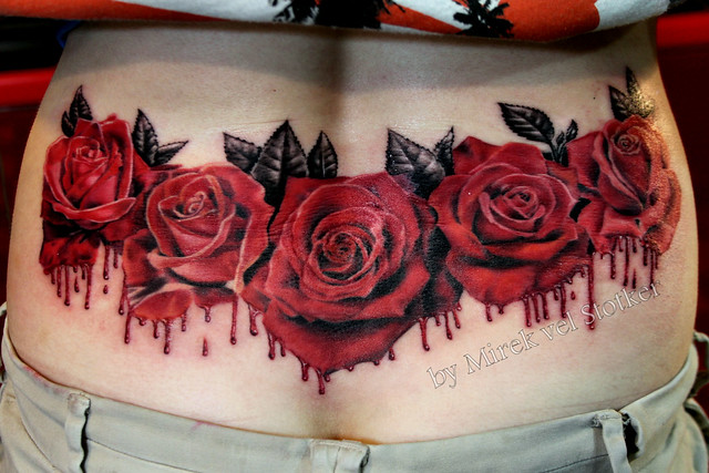 bleeding roses tattoo by mirek vel stotker explore stotker flickr photo sharing. Black Bedroom Furniture Sets. Home Design Ideas