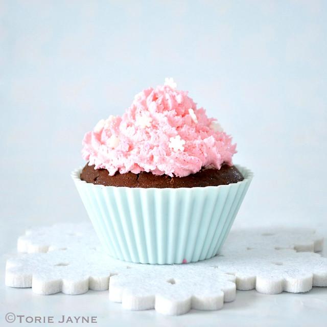 Gluten free Black forest cupcake