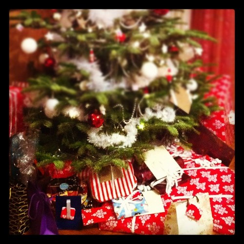 Presents under the xmas tree