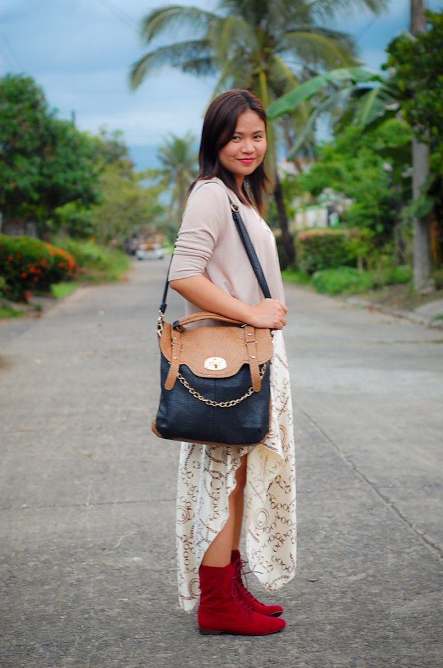 red boxing boots, denise katipunera, pinay fashion blogger, fashion on a budget, mommy style