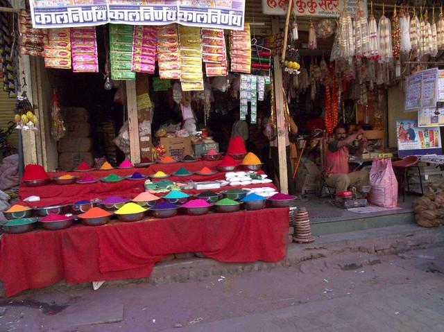 Hindu temple street. Aurangabad, Dec 2011. GR048