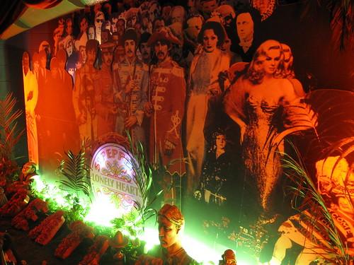 The Beatles--Sgt Pepper backdrop.