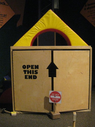 """the kids were in this box; they put up a sign, """"do not enter"""""""