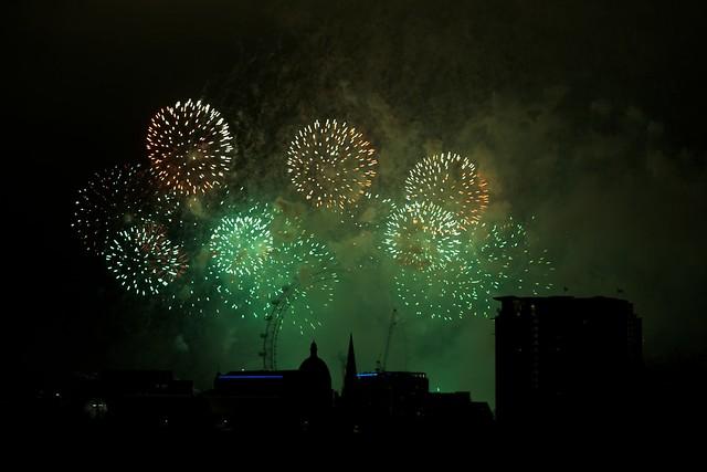 NYE 2011 London Fireworks