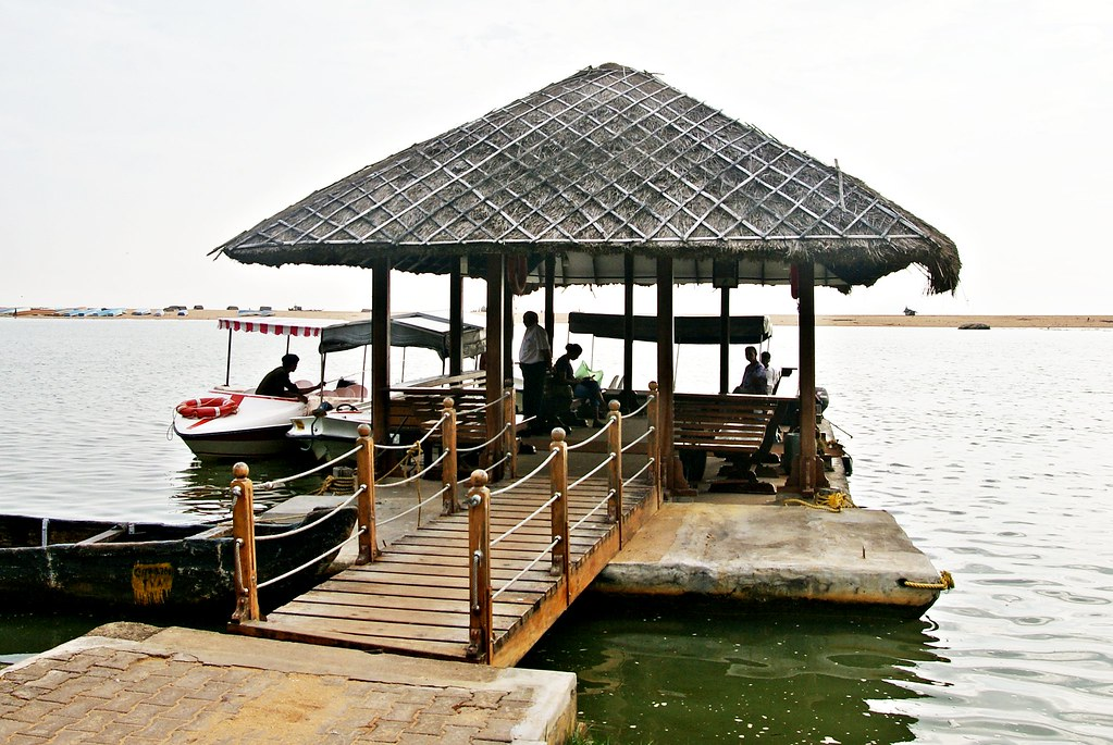 boat jetty of the resort