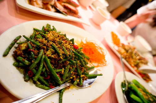 Chinese's fried veggie with minced pork