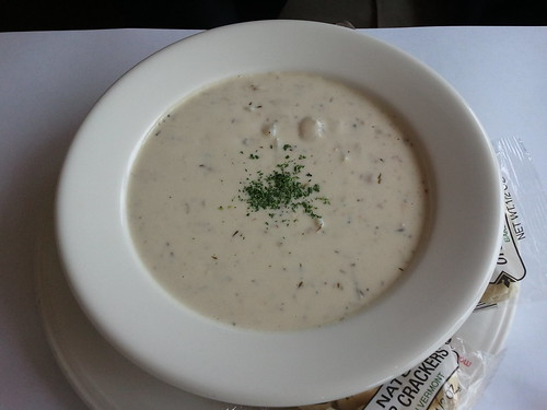 Clam chowder at Paradiso Trattoria
