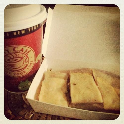 20120104 咖啡+蛋餅