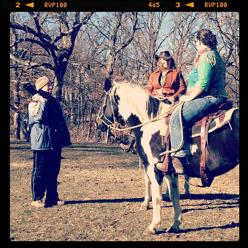 Mom's cashing in on her Xmas gift from me & @meppies: a photo shoot with her and her horse Brody.