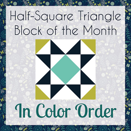 Half-Square Triangle Block of the Month by jenib320