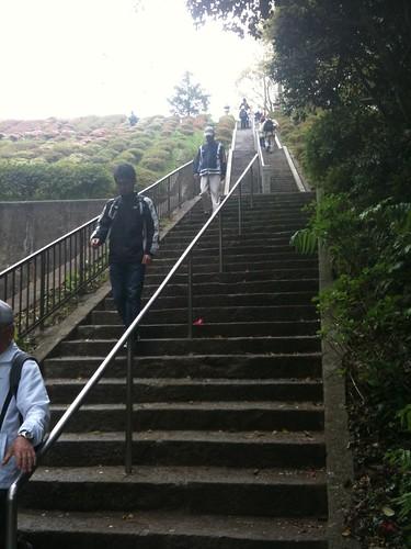 階段長い!