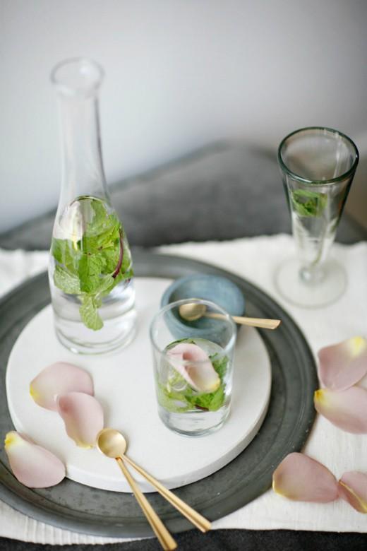 petals- water-food photography