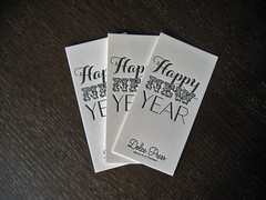 Happy New Year Letterpress Card